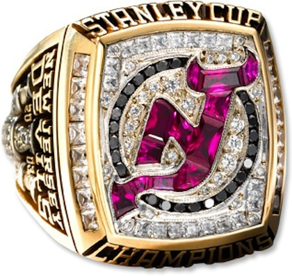 #4 new jersey devils 2003 stanley cup championship ring