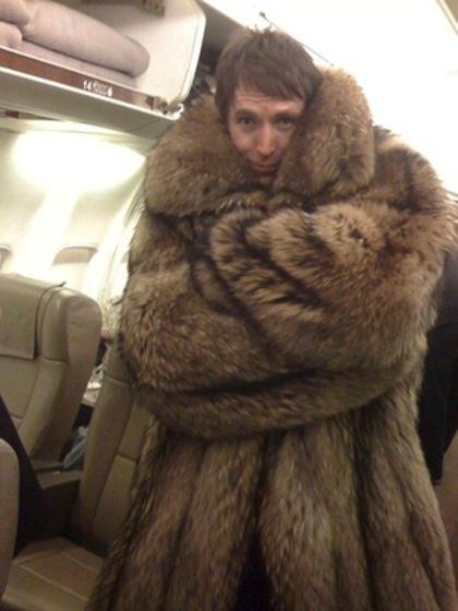 steve nash wearing shaq's fur coat