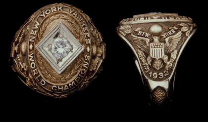 #5 yankees 1932 world series ring