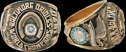 #6 orioles 1970 world series ring