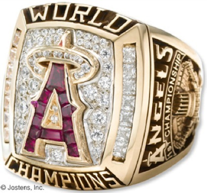 #7 angels 2002 world series ring