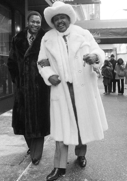 larry holmes and don king wearing fur coats