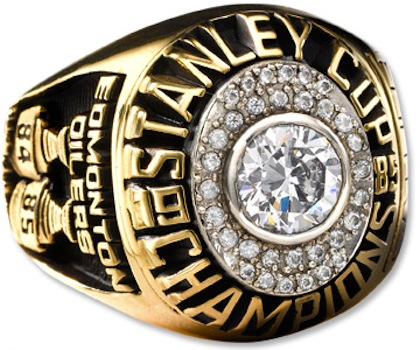 #9 edmonton oilers 1985 stanley cup championship ring