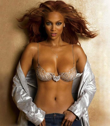 #9 tyra banks (chris webber) victoria's secret