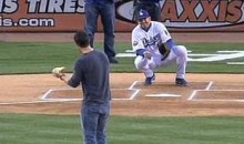 Bear Grylls' Opening Pitch Was On Fire (Video)