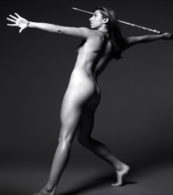 Nude female athletics