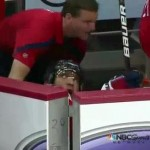 alex ovechkin fall into bench