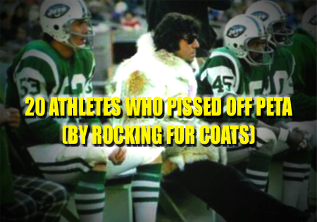 athletes wearing fur coats