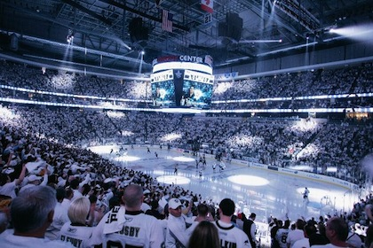 consol engergy center white out pittsburgh penguins stanley cup playoffs