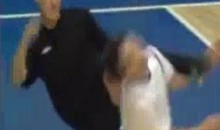 Futsal Player Shuts-Up Opponent With A Kick To The Face (Video)