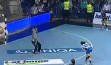 Bojana Popović Scores A Creative Penalty Shot Goal During Women's Handball Match (Video)