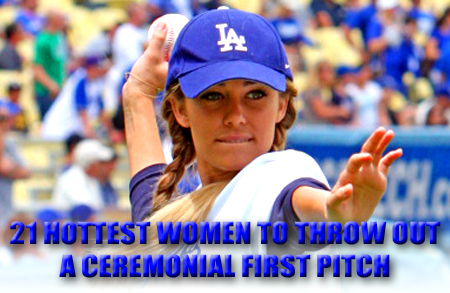 hottest women ceremonial first pitch