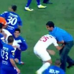 isreal soccer brawl