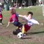 kid soccer body check