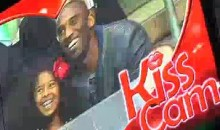 Kobe Bryant Was On The Kings' Kiss Cam (Video)