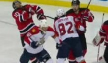 Watch The Devils' Peter Harrold Get Speared In The Neck (Video)