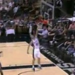 manu ginobili misses wide open dunk