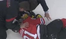 Marian Hossa Stretchered Off The Ice After This Hit From Raffi Torres (Video)