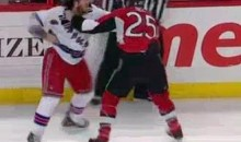 Chris Neil And Brandon Prust Provided This Entertaining Playoff Hockey Fight (Video)