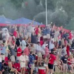 ole miss baseball beer shower