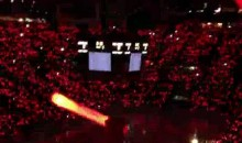 Detroit Red Wings Fans Put On A Light Show Prior To Game Three (Video)