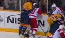 Watch Shea Weber Smash Henrik Zetterberg's Head Into The Glass (Video)