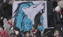 Spartak Moscow Fans Taunt Zenit By Deep Throating Their Mascot (Video)