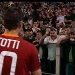 totti angry roma fan