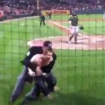 umpire tackle streaker