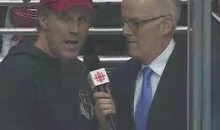 Will Ferrell Talks Hockey At Kings-Canucks Game (Video)