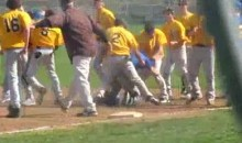 Bench-Clearing Brawl Breaks Out During High School Baseball Game (Video)