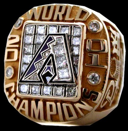 #1 arizona diamondbacks 2001 world series championship rings