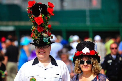 #10 crazy weird funny stupid 2012 kentucky derby hats rose hat guy
