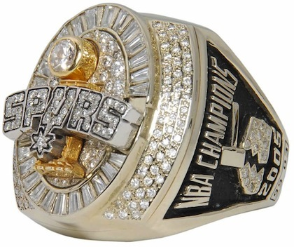 #10 spurs 2005 nba championship ring