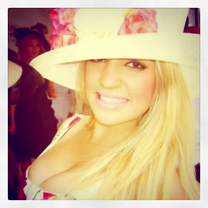 #11 hot girl cleavage at 2012 kentucky derby