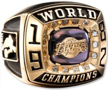 #11 lakers 1982 nba championship ring