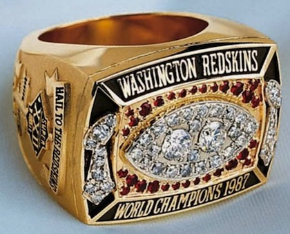 #11 washington red skins super bowl xxii championship ring