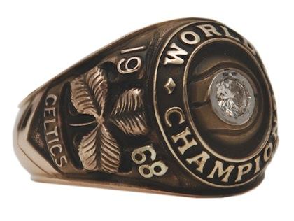 #12 celtics 1968 nba championship ring
