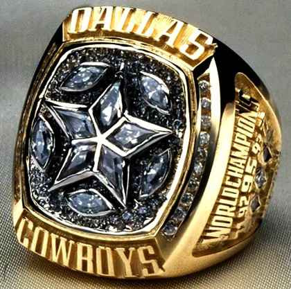 #12 dallas cowboys 1996 super bowl xxx championship ring