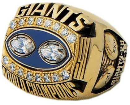 #12 new york giants 1991 super bowl championship ring