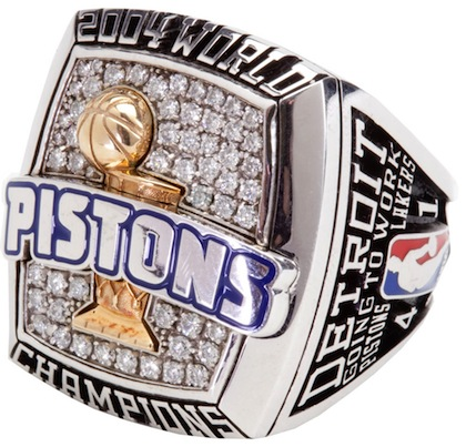 #13 pistons 2004 nba championship ring