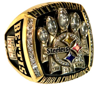 #13 pittsburgh steelers 2006 super bowl XL championship ring