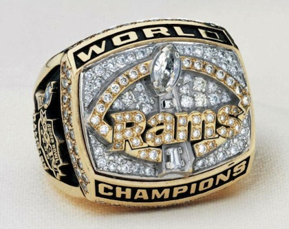 #13 st. louis rams 2000 super bowl championship ring