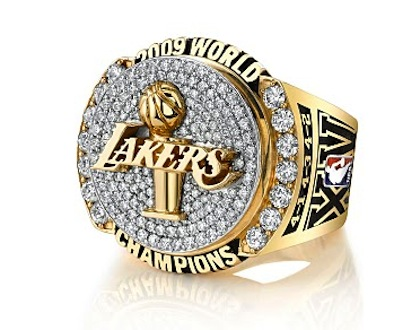 #14 los angeles lakers 2009 nba championship ring