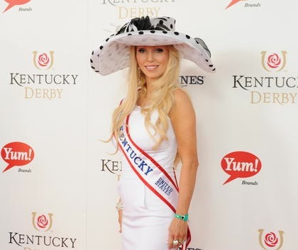 #14 miss kentucky on the red carpet at 2012 kentucky derby