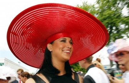 #14 red UFO hat 2012 kentucky derby (miss america laura kaeppeler)