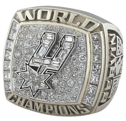 #14 spurs 2003 nba championship rings