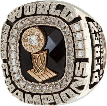 #15 heat 2006 nba championship ring