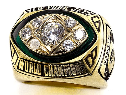 #15 new york jets 1969 super bowl iii championship ring