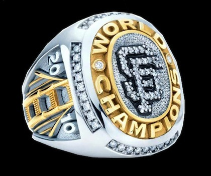 #15 san francisco giants 2010 world series championship ring